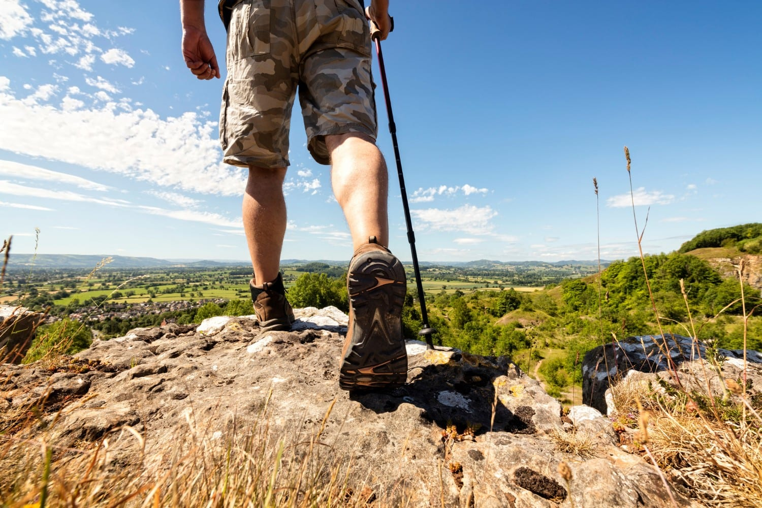 Hiker Traveling Through Mountains on Santa Fe Hiking Trails
