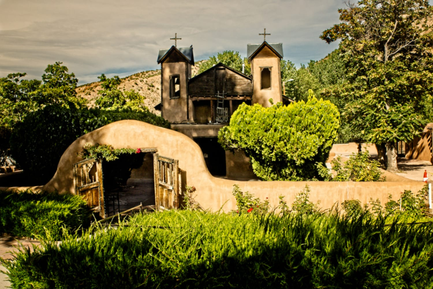 The El Santuario de Chimayo in Chimayo, NM, One of the Best Small Towns Near Santa Fe